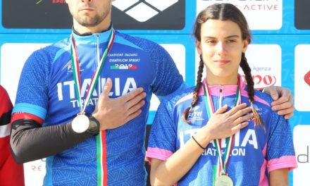 Costanza Arpinelli e Dario Chitti campioni italiani di duathlon a Caorle