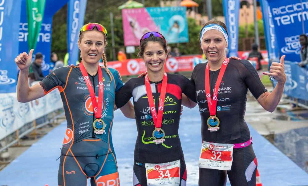 Challenge Riccione 2019 podio femminile, Elisabetta Curridori trionfa
