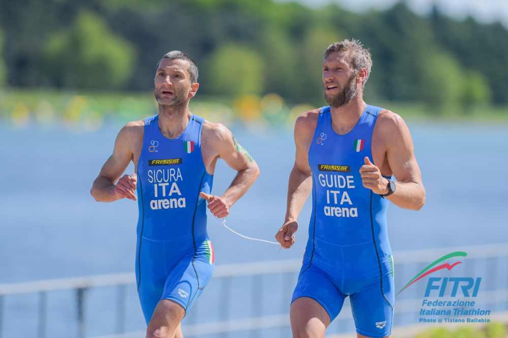 Federico Sicura e Daniel Hofer, ITU World Paratriathlon Series Milano 2019