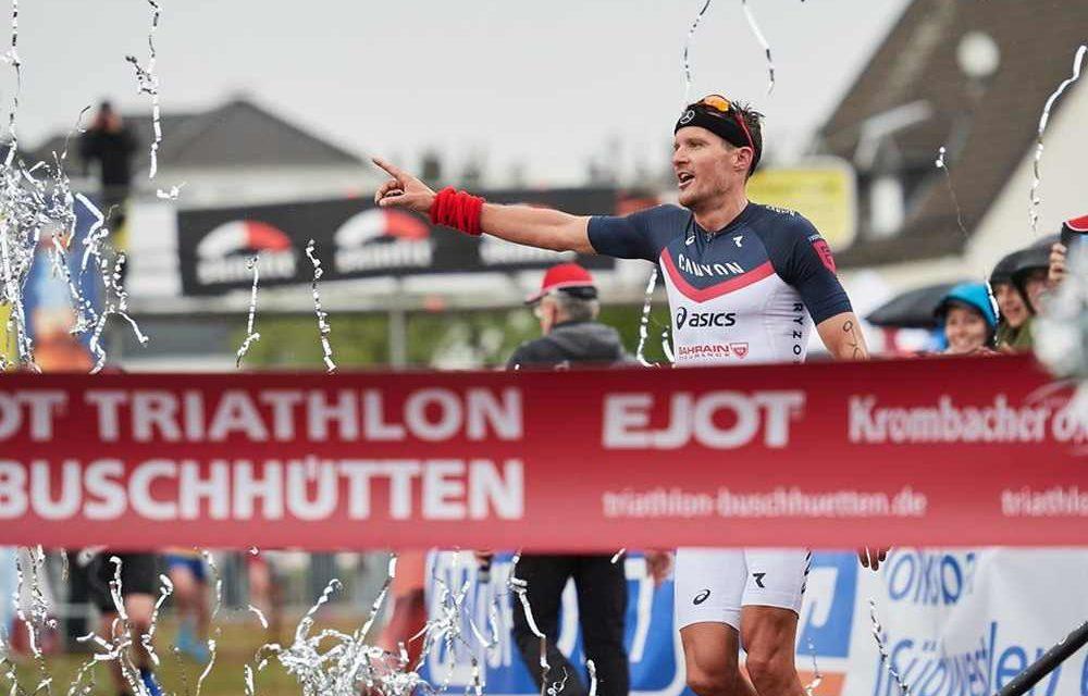 Jan Frodeno torna in gara: corre e vince l'Ejot Triathlon Buschhutten