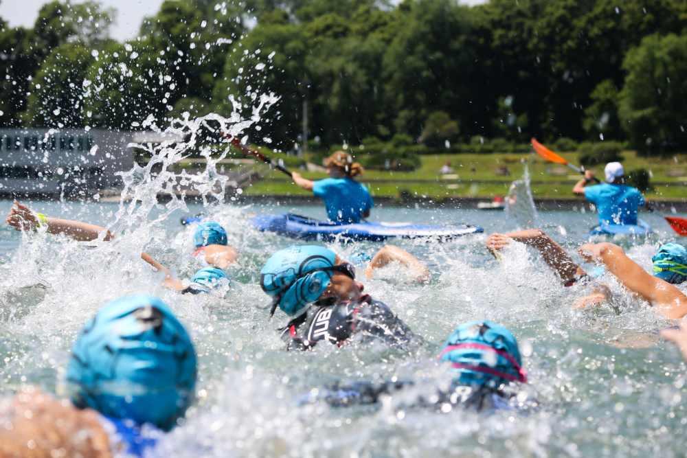 Il 3° SEA Milano DeeJay TRI si è disputato sabato 8 e domenica 9 giugno 2019 all'Idroscalo di Milano (Foto ©Marco Bardella).