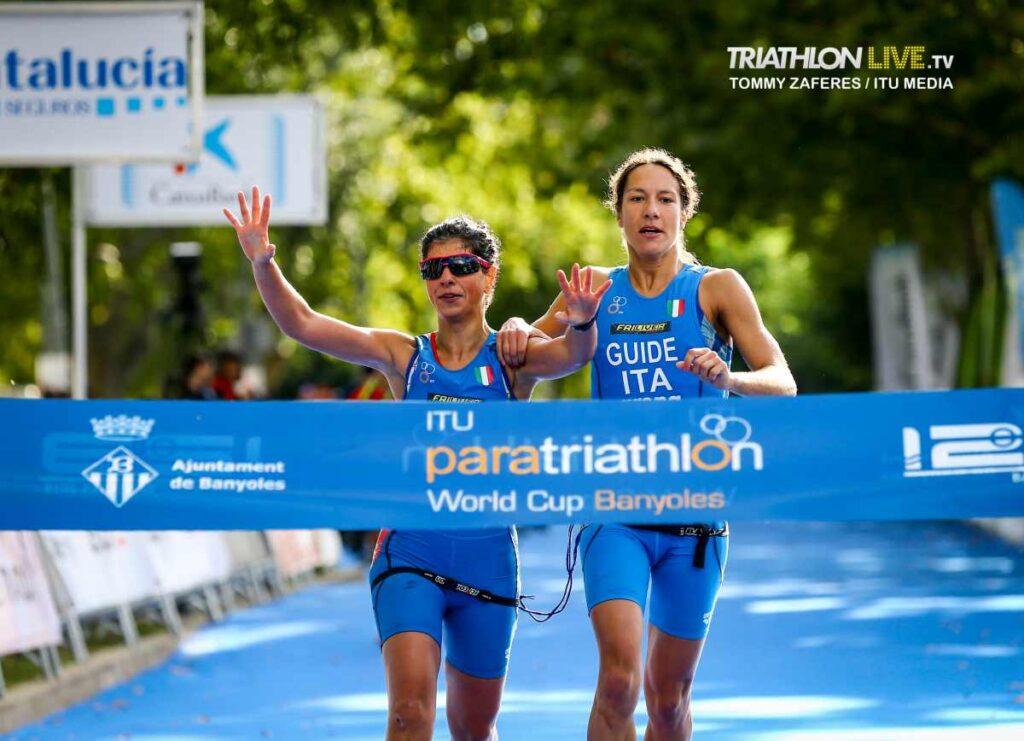 Anna Barbaro vince l'oro nella tappa di Coppa del Mondo di paratriathlon 2019 a Banyoles (Spagna) - Foto ©Tommy Zaferes / ITU Media).