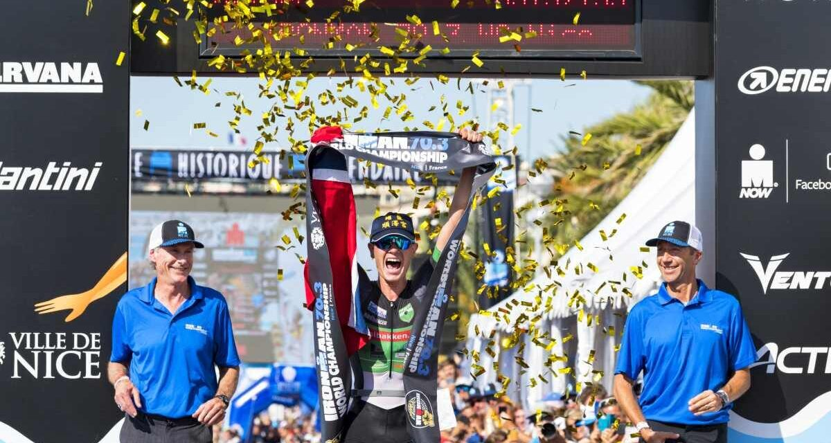 Gustav Iden incredibile all'Ironman 70.3 World Championship di Nizza