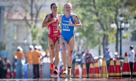 Verena Steinhauser sul podio della Coppa del Mondo di triathlon in Cina