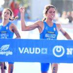 L'azzurra Beatrice Mallozzi vince l'oro al Campionato del Mondo di triathlon 2019 nella categoria Junior davanti all'altra italiana Costanza Arpinelli (Foto ©Delly Carr).