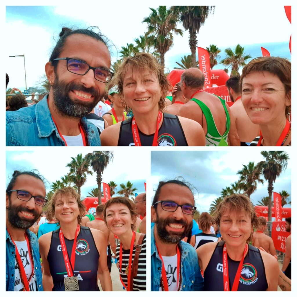 Daddo, Gianna e Francesca, evviva il Barcelona Triathlon 2019!