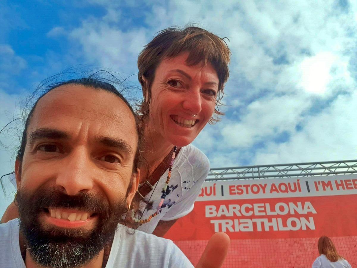 Daddo e Francesca pronti a raccontare il Barcellona Triathlon 2019