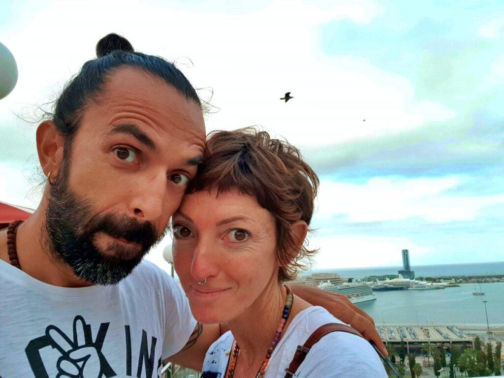 Daddo e Francesca in versione reporter al Barcelona Triathlon 2019