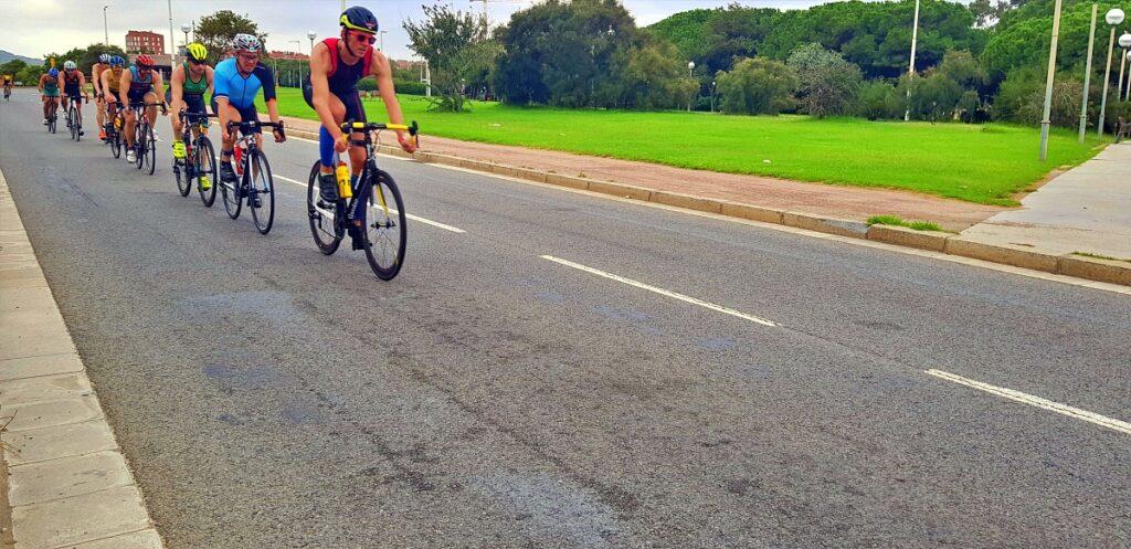 Il percorso ciclistico del Barcelona Triathlon 2019