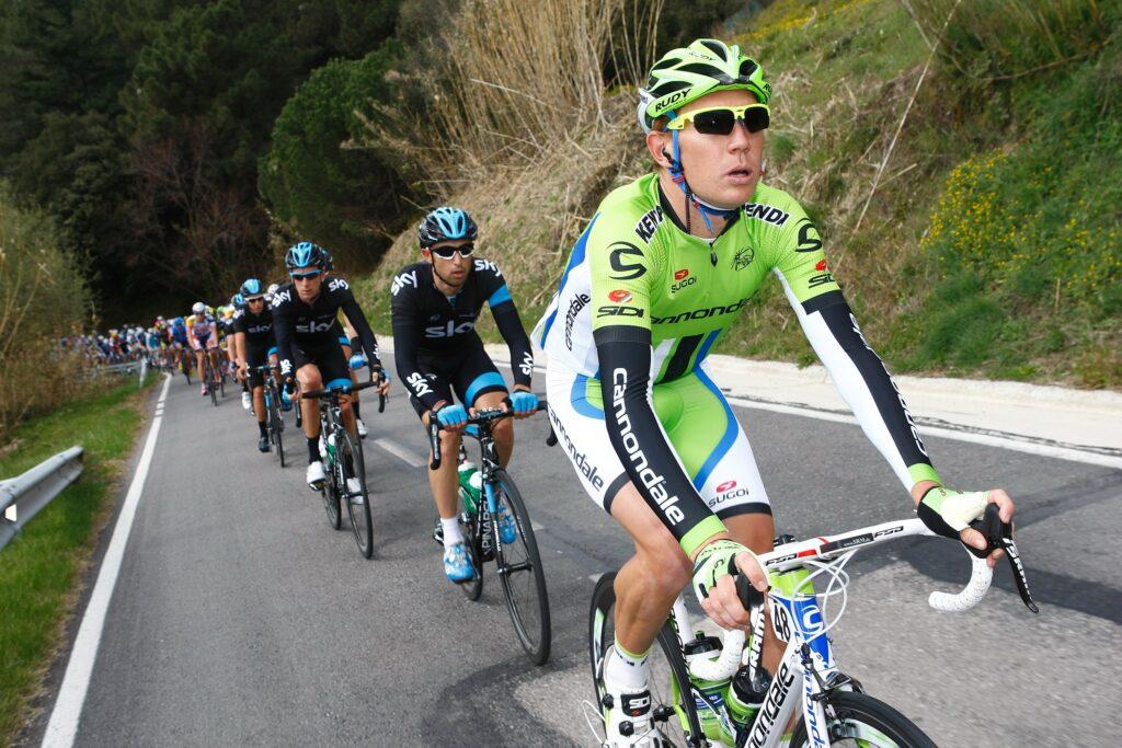 Cameron Wurf impegnato nel Giro d'Italia 2013