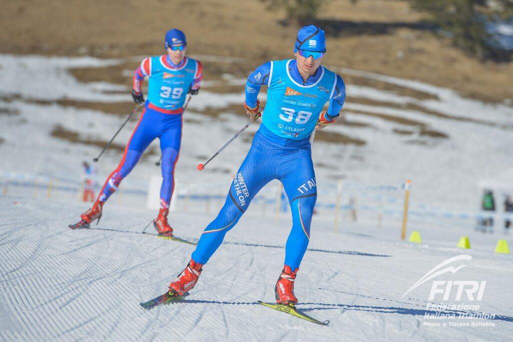 L'azzurro di winter triathlon Alessandro Saravalle