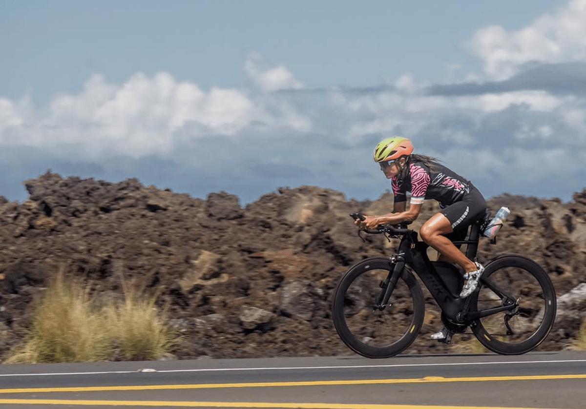 La brasiliana Fernanda Keller all'Ironman Hawaii World Championship 2018.