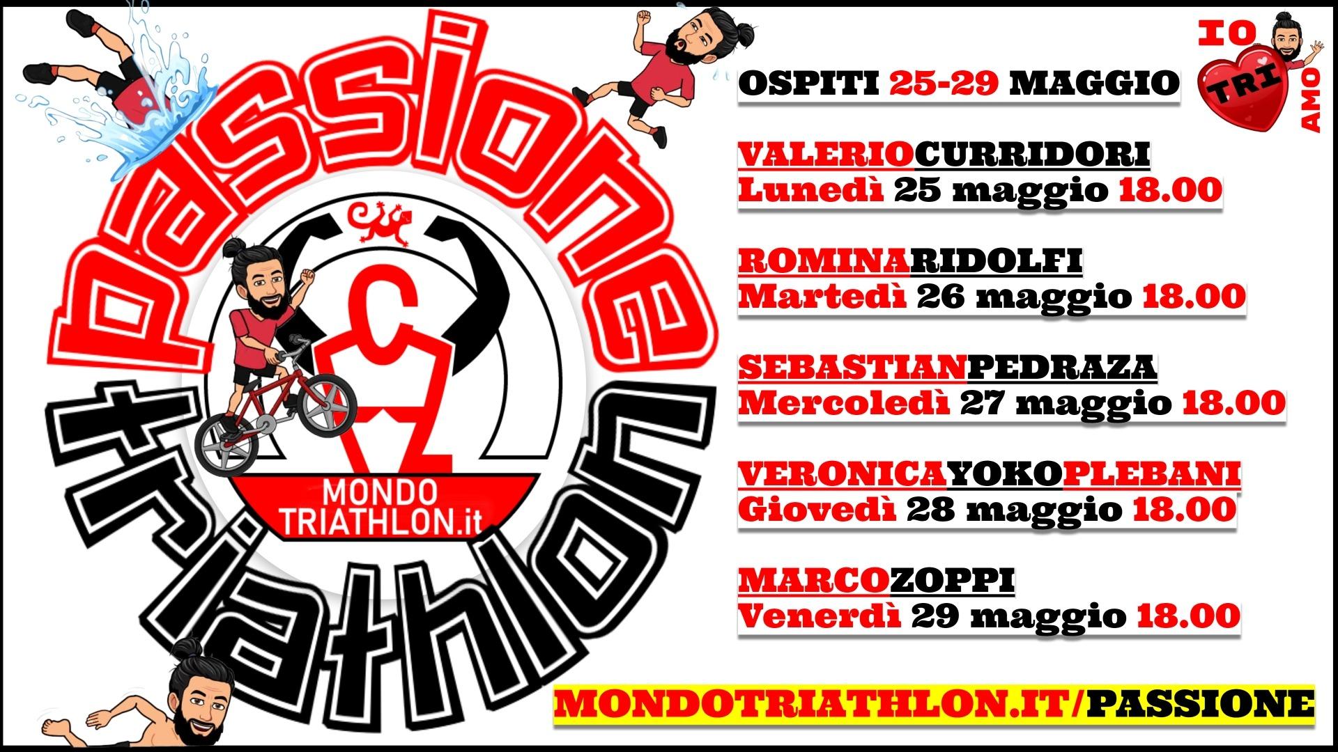 Passione Triathlon, il palinsesto dal 25 al 29 maggio 2020