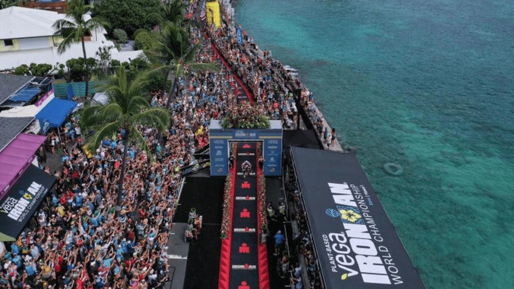 L'arrivo dell'Ironman Hawaii World Championship