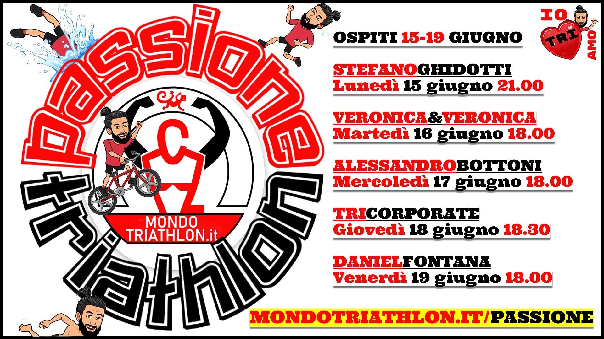 Passione Triathlon, il palinsesto dal 15 al 19 giugno 2020