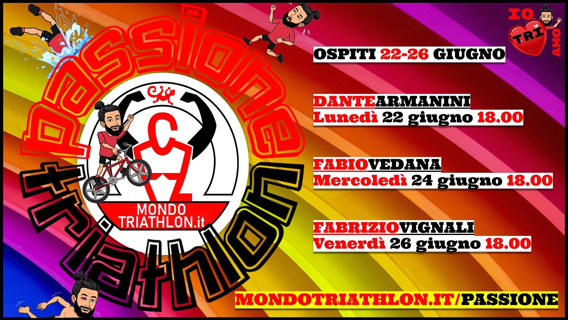 Passione Triathlon, il palinsesto dal 22 al 26 giugno 2020