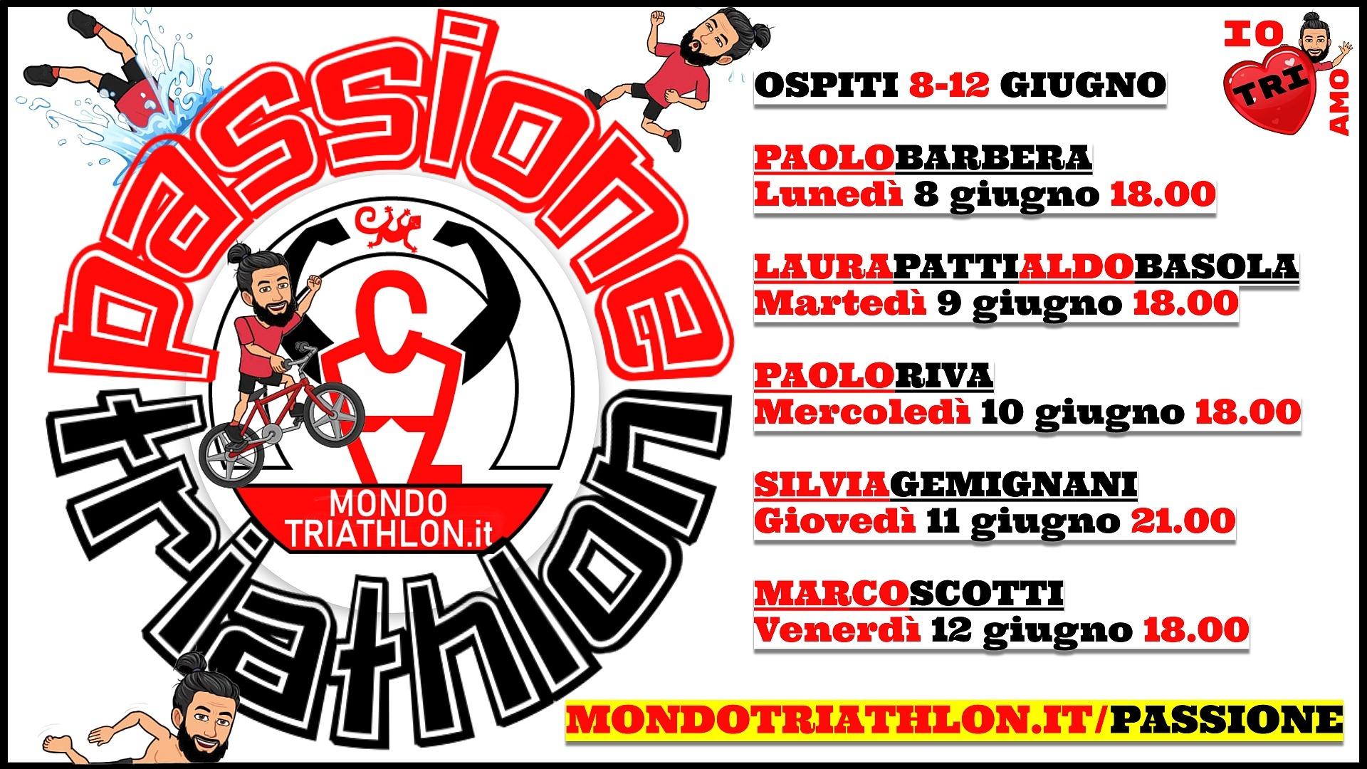 Passione Triathlon, il palinsesto dall'8 al 12 giugno 2020