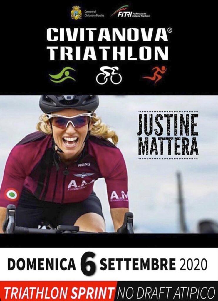 Justine Mattera madrina del 1° Civitanova Triathlon del 6 settembre 2020