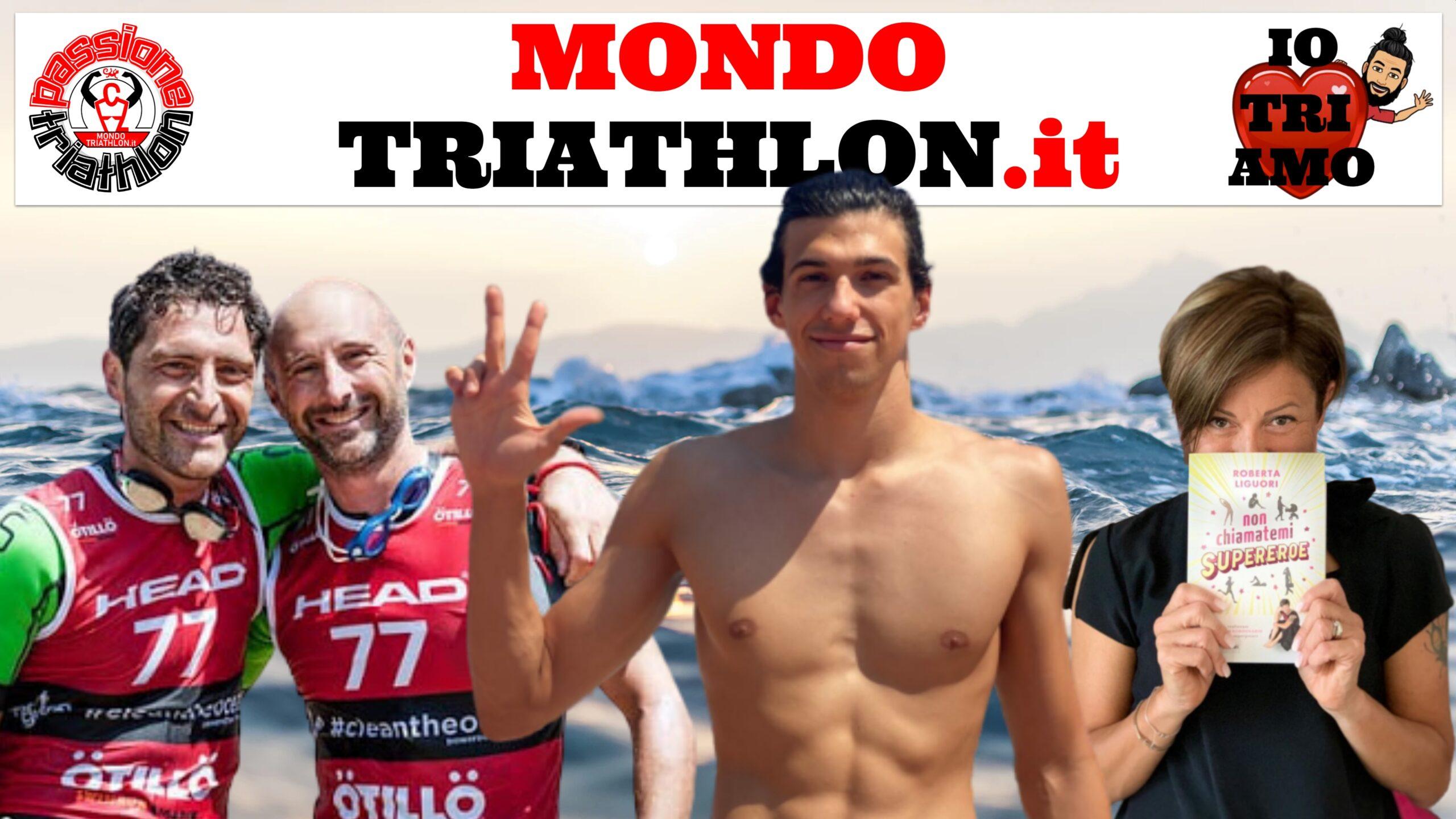 Passione Triathlon, la copertina con i protagonisti dal 17 al 21 agosto 2020: Renato Dell'Oro e Paolo Carminati, Simone Barlaam e Roberta Liguori