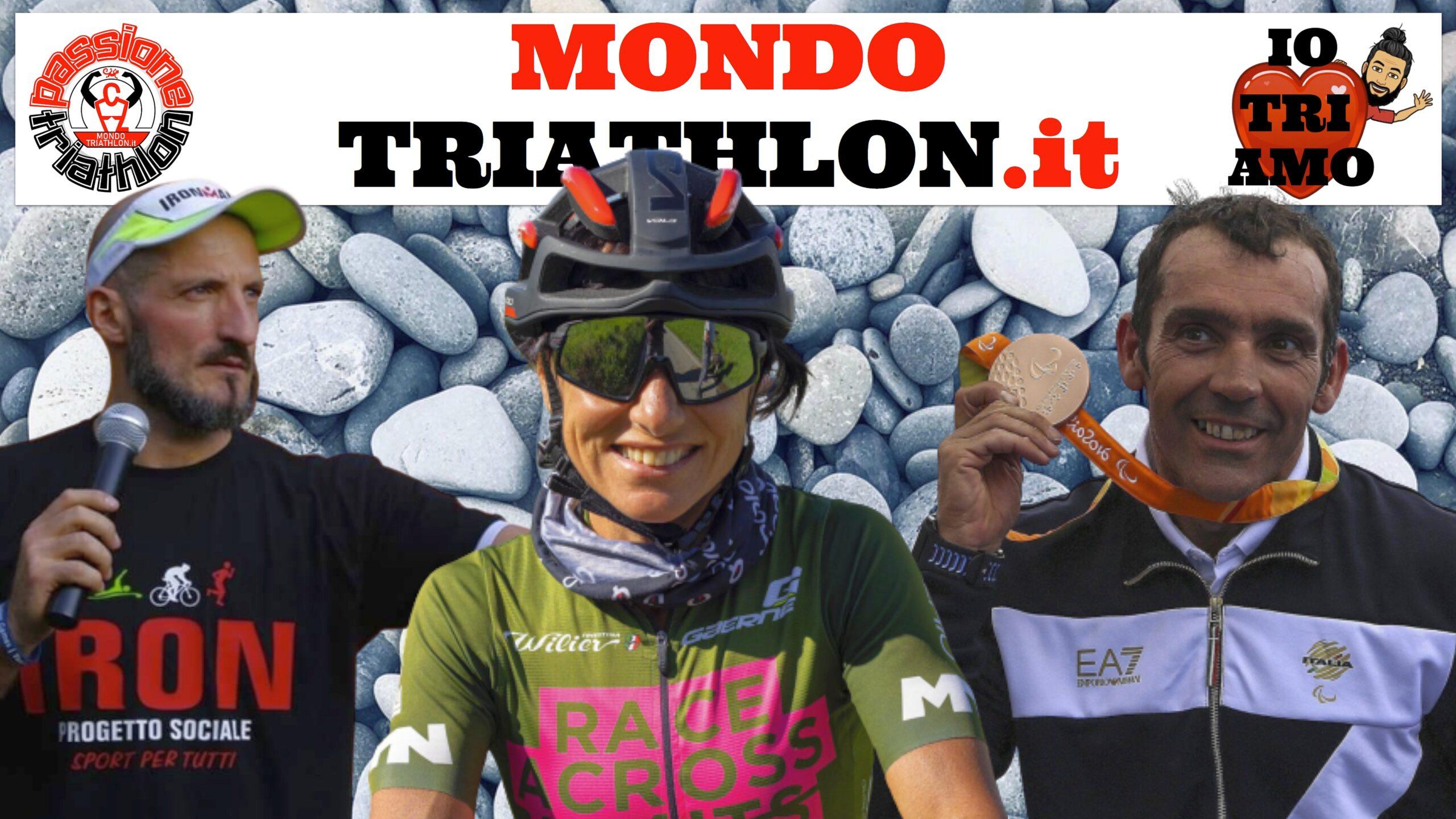 Passione Triathlon, la copertina con i protagonisti dal 24 al 28 agosto 2020: Giovanni Achenza, Sabrina Schillaci e Mauro Progetto Iron