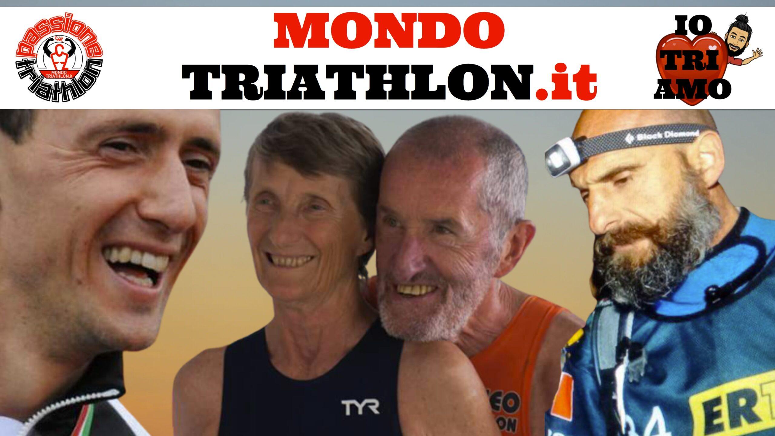 Passione Triathlon, la copertina con i protagonisti dal 31 agosto al 4 settembre 2020: Matteo Annovazzi, Beppe Scotti, Gabriella Bois e Agostino Ramella