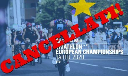 Renato Bertrandi annuncia l'annullamento degli Europei di Triathlon di Tartu