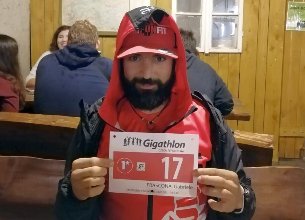 Gabriele Frasconà al Gigathlon Czech Republic 2020