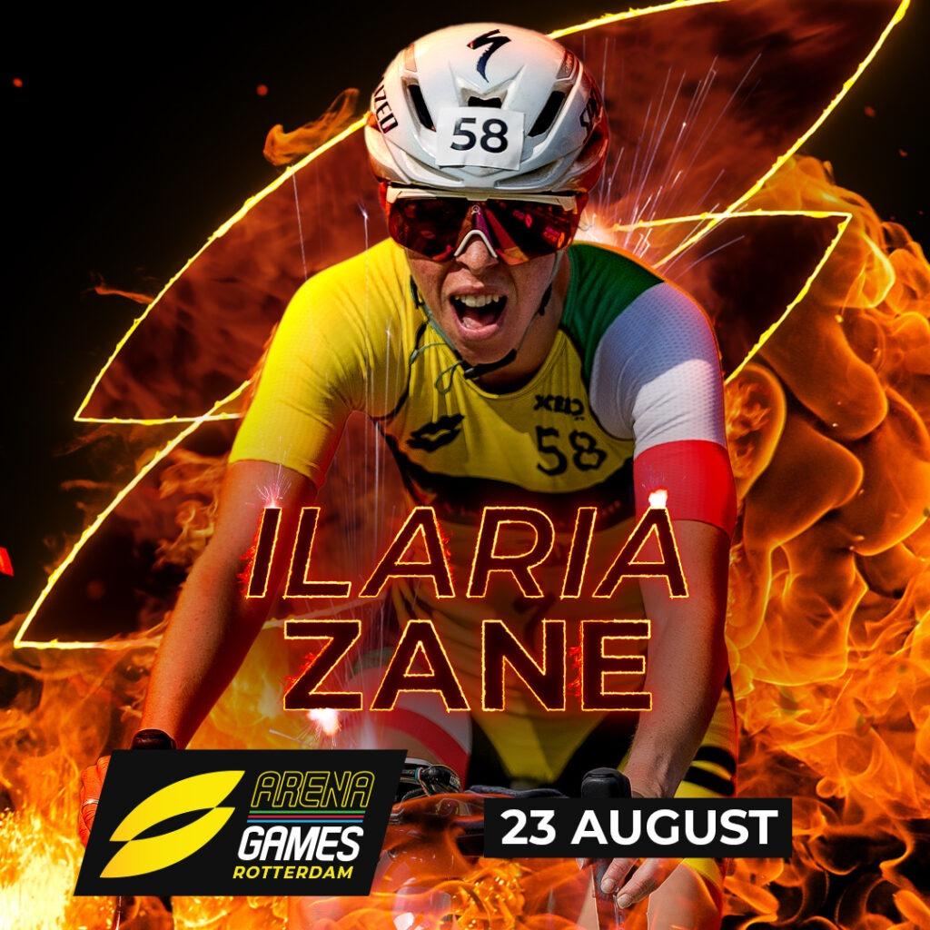 Ilaria Zane al via della SLT Arena Games Rotterdam del 23 agosto 2020