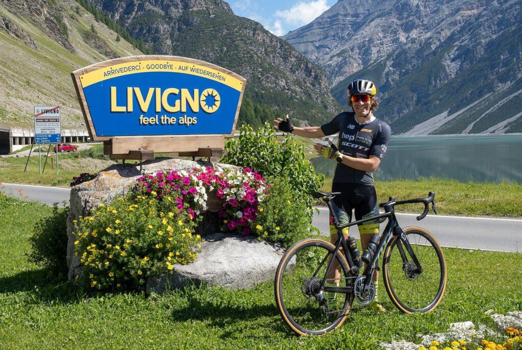 Sebastian Kienle in allenamento a Livigno