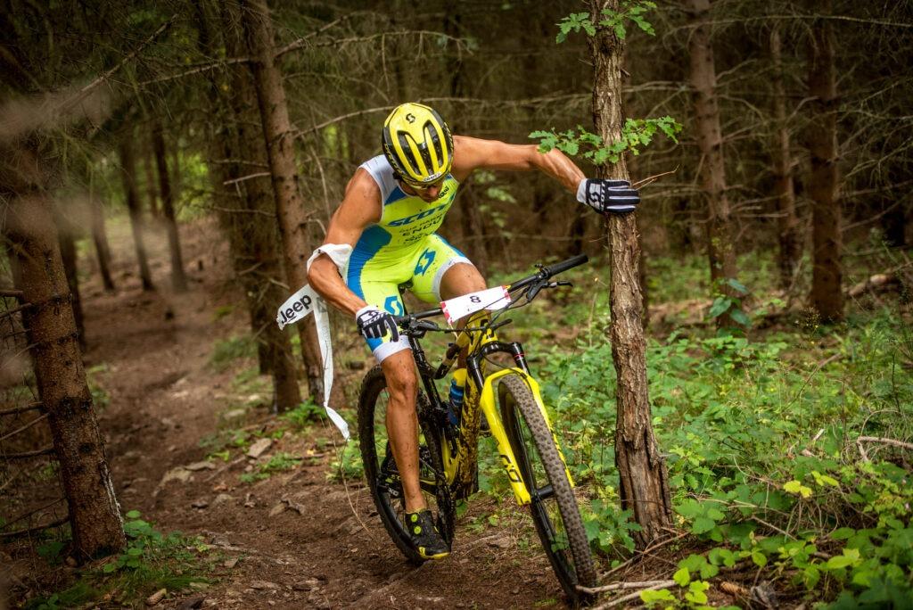 Filippo Rinaldi impegnati nella frazione in mountain bike dell'XTERRA Czech Republic 2020 terminato all'8° posto (Foto: Katka Kachna Přibylová - Vaclav Pancer)