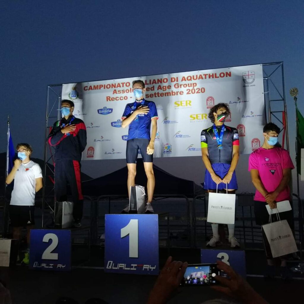 Campionati Italiani Aquathlon 2020 a Recco: nuova campione è lo Junior Alessio Crociani