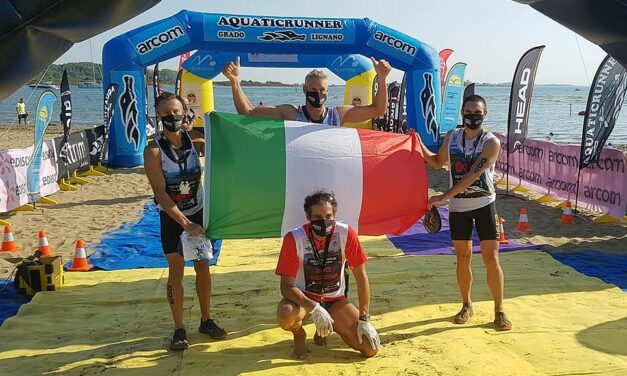Il Tricolore sventola all'Aquaticrunner 2020