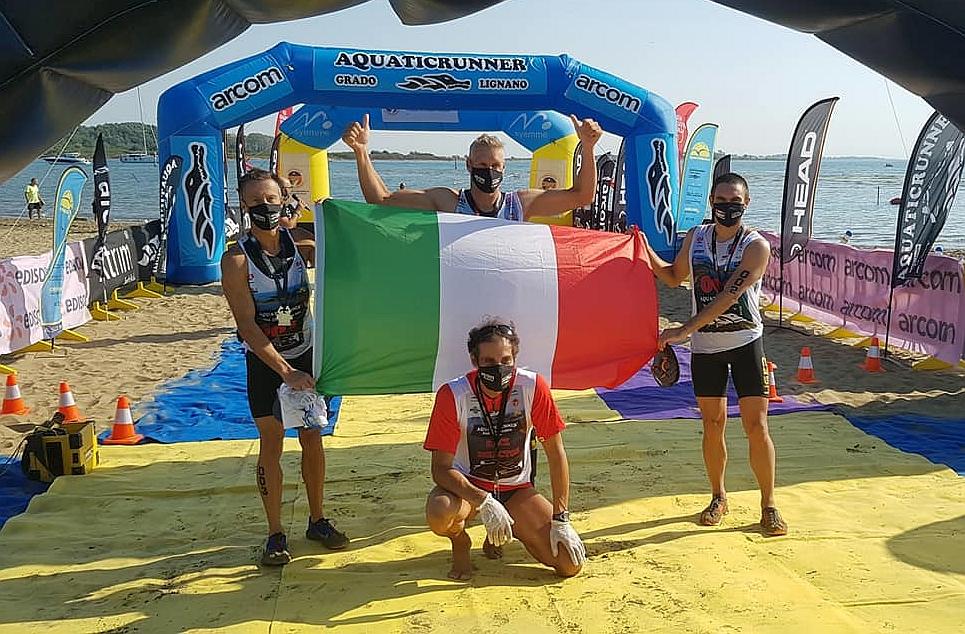 Il Tricolore sventola all'Aquaticrunner 2020