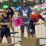 Justine Mattera al via del 1° Civitanova Triathlon, domenica 6 settembre 2020