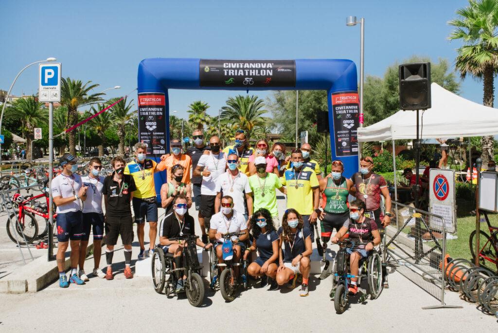 La famiglia del Paratriathlon al 1° Civitanova Triathlon del 6 settembre 2020