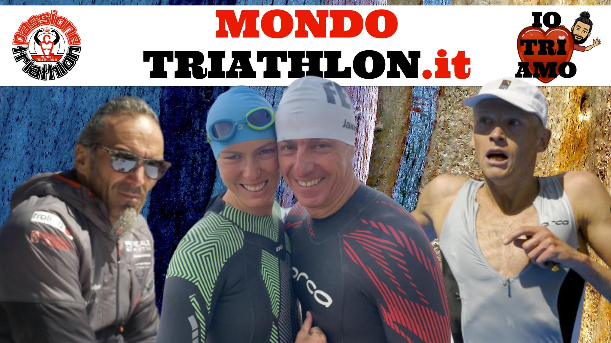 Passione Triathlon, la copertina con i protagonisti dal 7 all'11 settembre 2020: Michela Santini e Federico Procopio, Vladimir Polikarpenko, Marco Zaffaroni