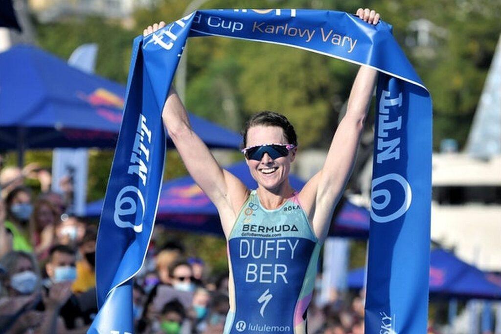 Flora Duffy (BER) vince l'ITU World Cup Karlovy Vary 2020 (Foto ITU Media)