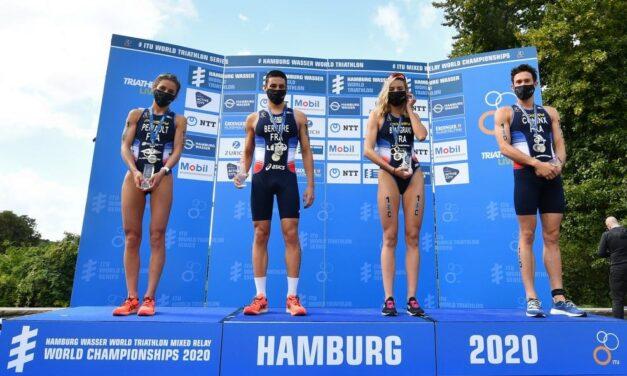 I Mondiali di triathlon di Amburgo con tanta Francia
