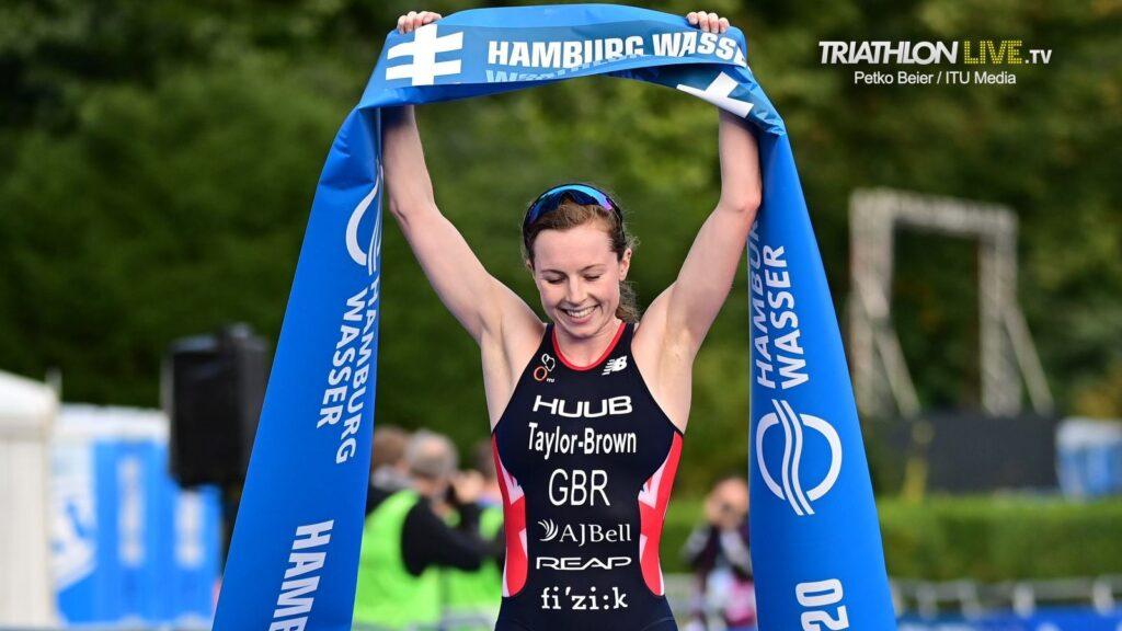 La britannica Georgia Taylor-Brown vince il triathlon sprint di Amburgo e si laurea campionessa del mondo 2020