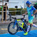 Giulio Molinari in azione all'Ironman 70.3 Gdynia 2020