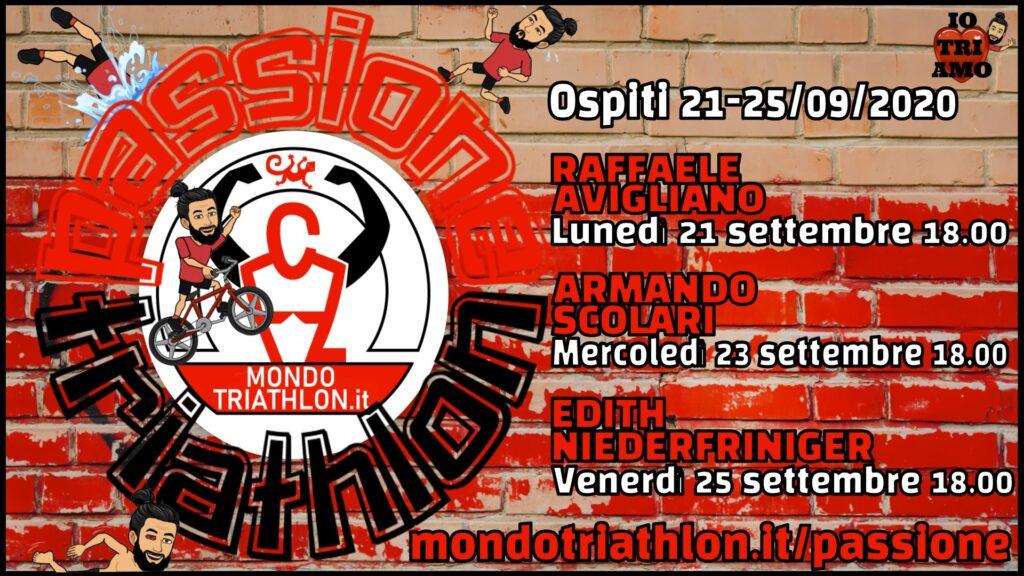 Programma Passione Triathlon 21-25 settembre 2020