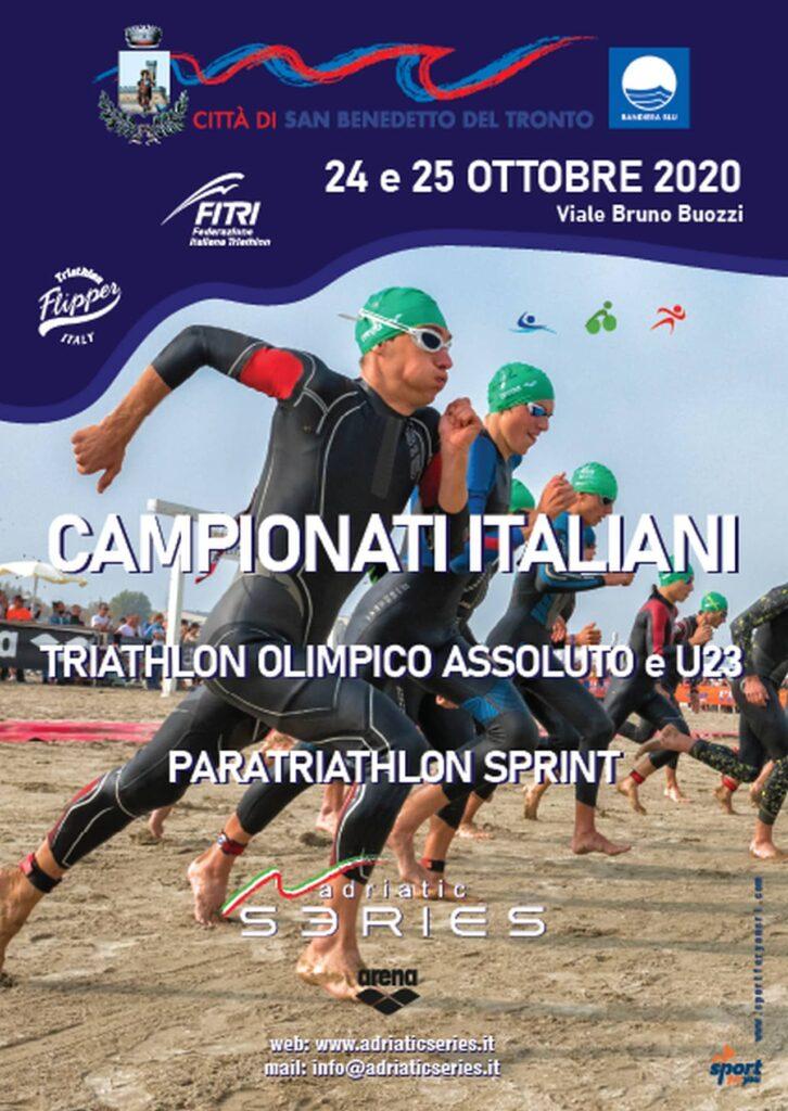 Locandina Campionati Italiani Triathlon Paratriathlon San Benedetto 2020