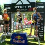 Podio maschile XTERRA Czech Short Track 2020, vince Arthur Serrieres