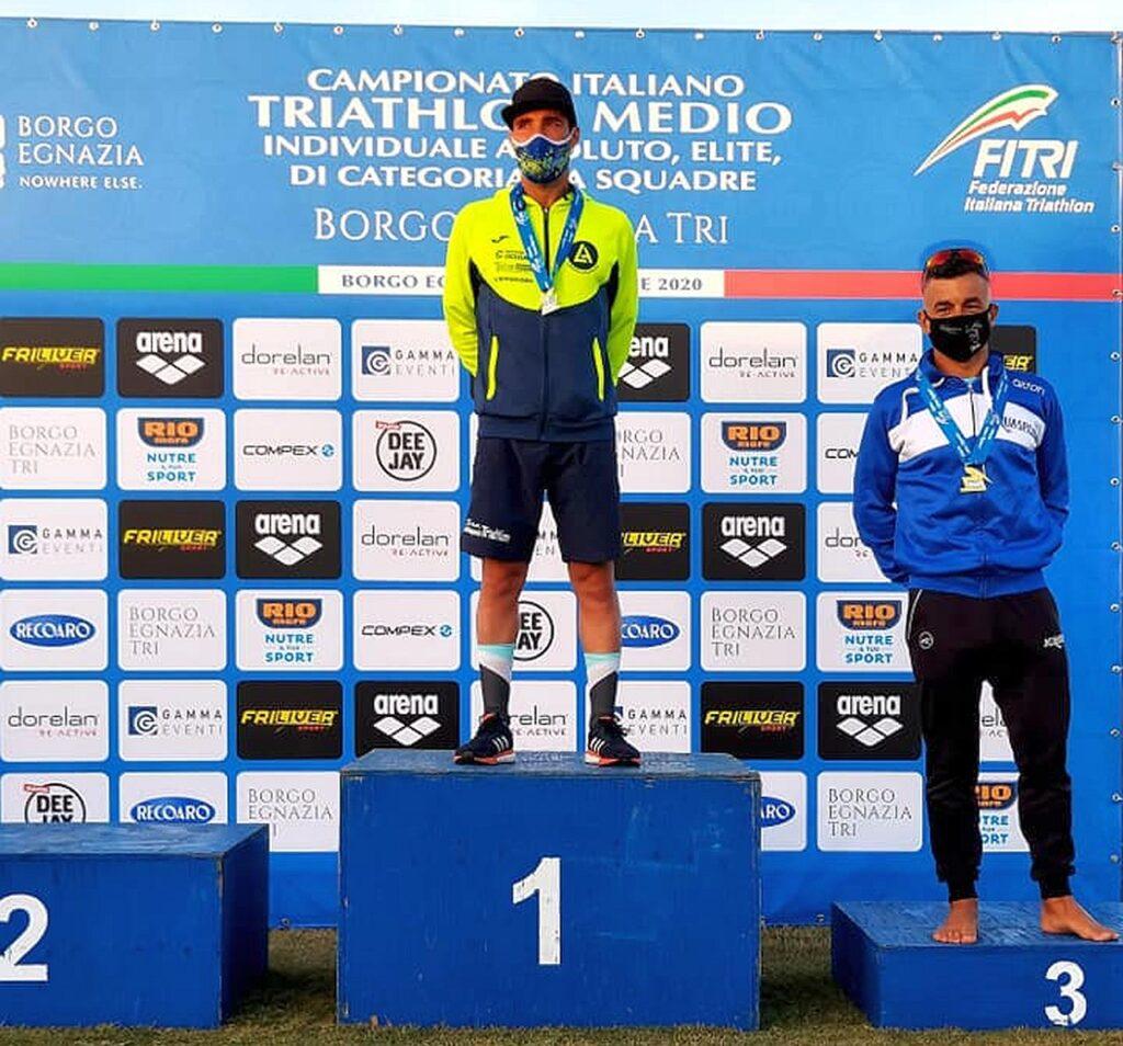 Campionati Italiani Triathlon Medio, Borgo Egnazia Half Tri, 10 ottobre 2020, podio Master 1 uomini