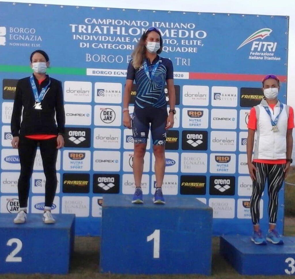 Campionati Italiani Triathlon Medio, Borgo Egnazia Half Tri, 10 ottobre 2020, podio Senior 4 donne