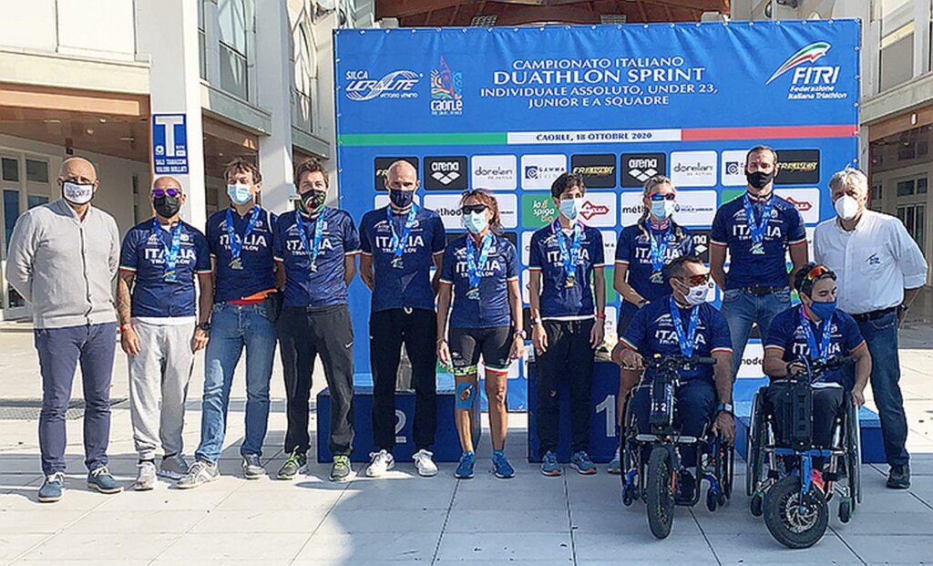 Campionati Italiani Duathlon Caorle 2020, le maglie tricolori del Paraduathlon