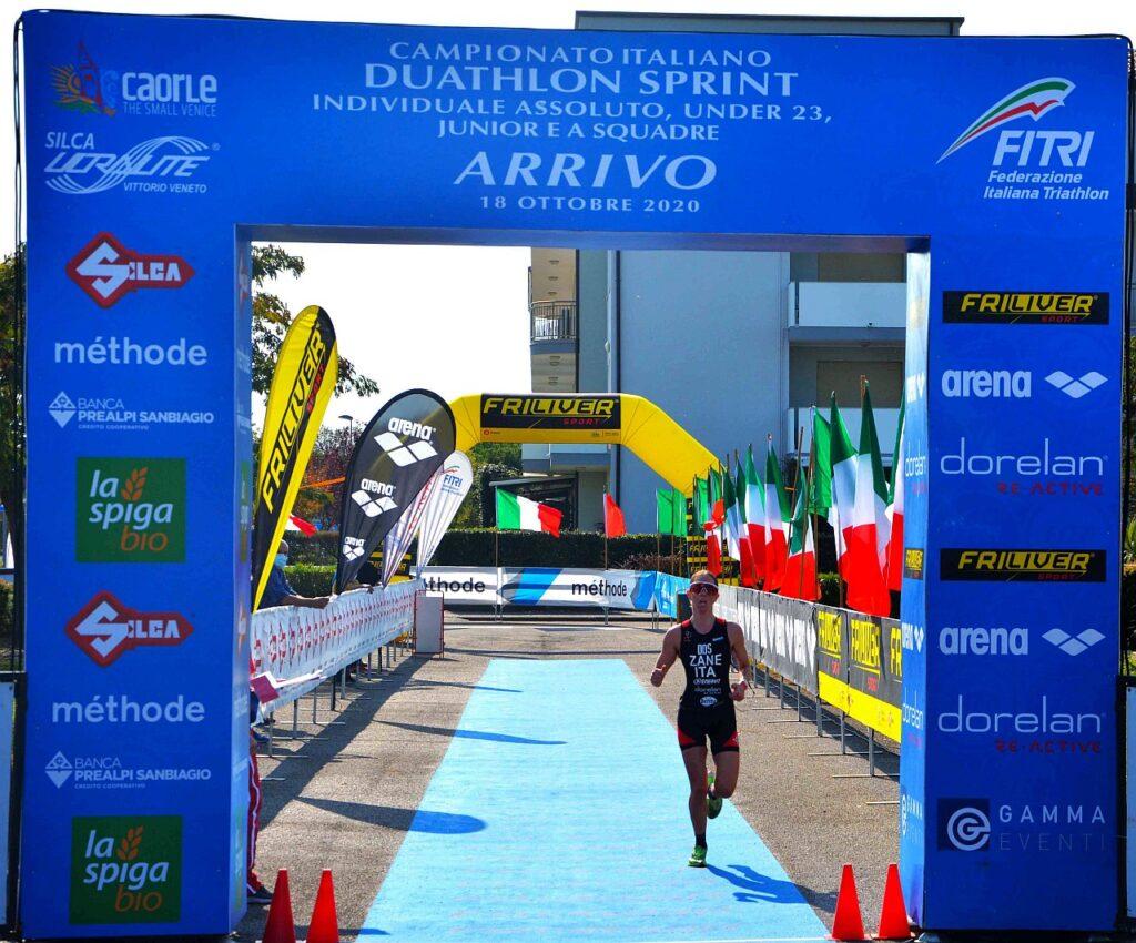 Campionati Italiani Duathlon Caorle 2020, Ilaria Zane al traguardo