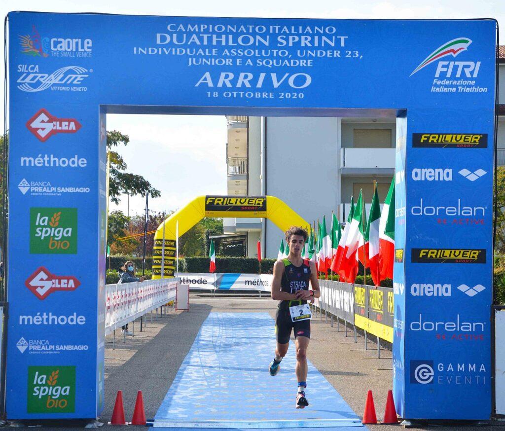 Campionati Italiani Duathlon Caorle 2020, Nicolò Strada trionfa