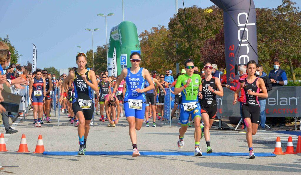 Campionati Italiani Duathlon Caorle 2020, la partenza femminile