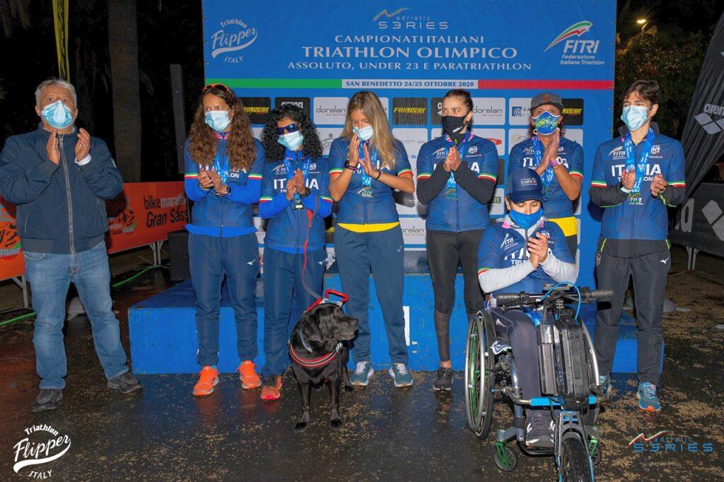 Le Campionesse Italiane di Paratriathlon 2020 di San Benedetto (Foto: Riccardo Del Bianco / Adriatic Series - Flipper Triathlon)